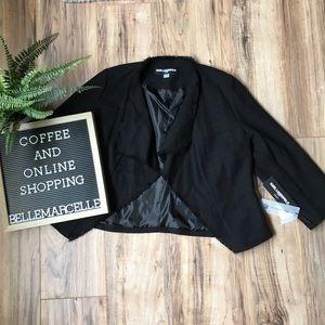 Karl Lagerfield Black Cropped Jacket M Paris NWT